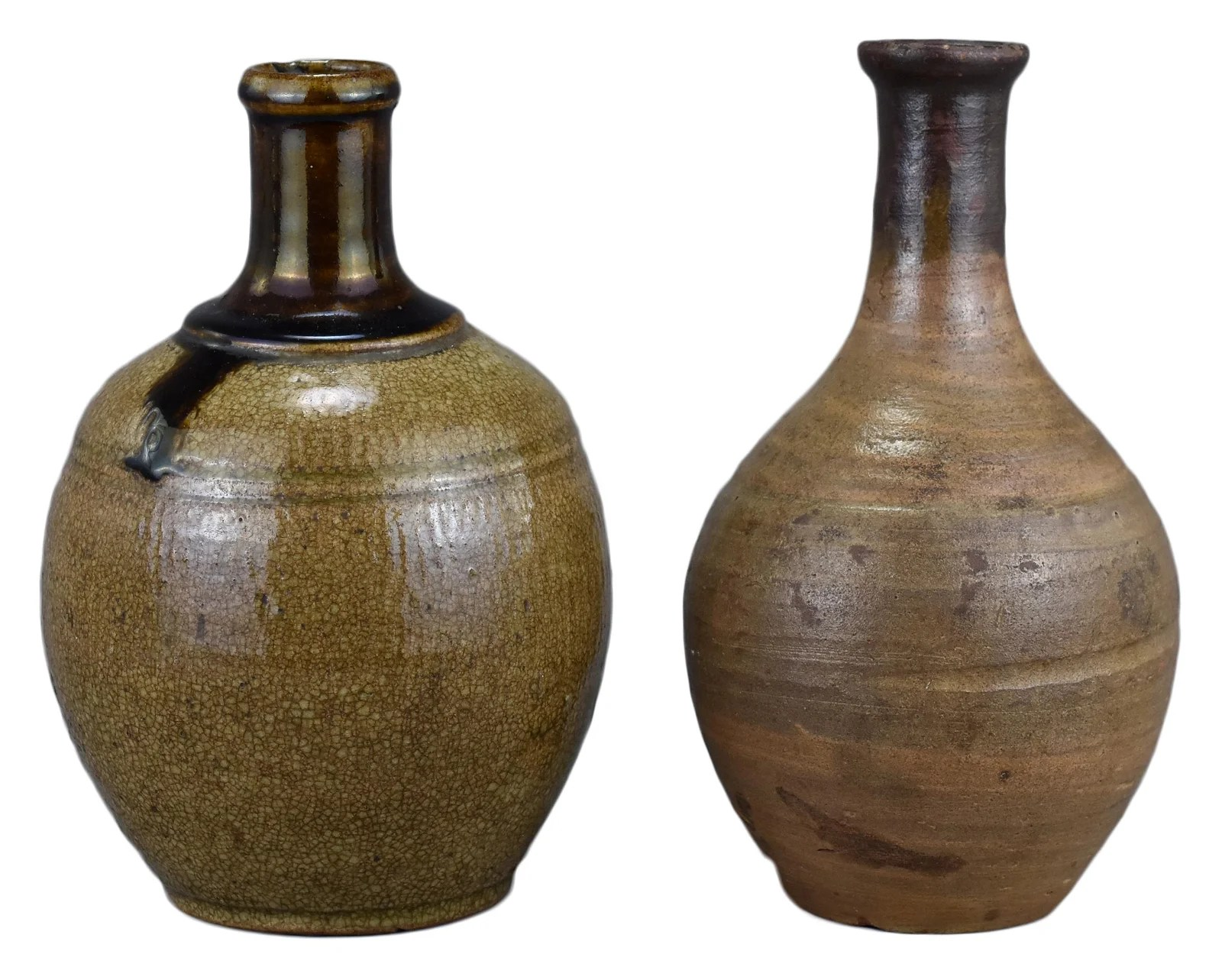 Two Japanese Sake Bottles – Meiji Period (19th