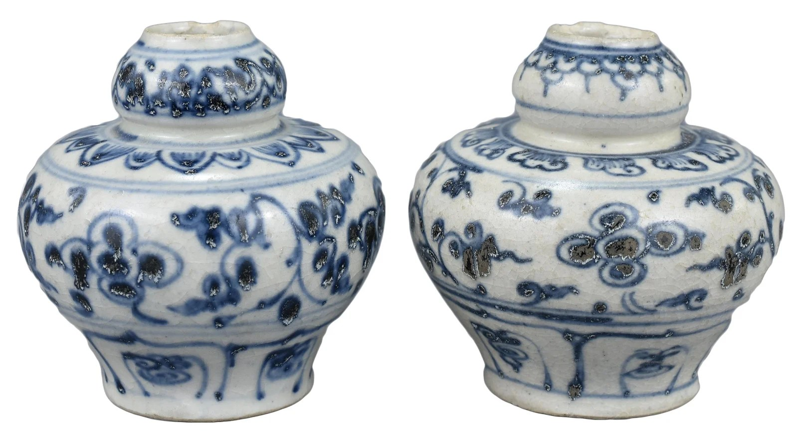 Two Chinese / Vietnamese Blue & White Porcelain Jars,