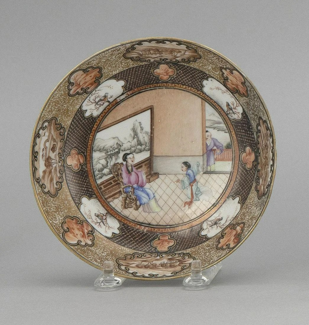 CHINESE EXPORT PORCELAIN DISH Late 18th Century