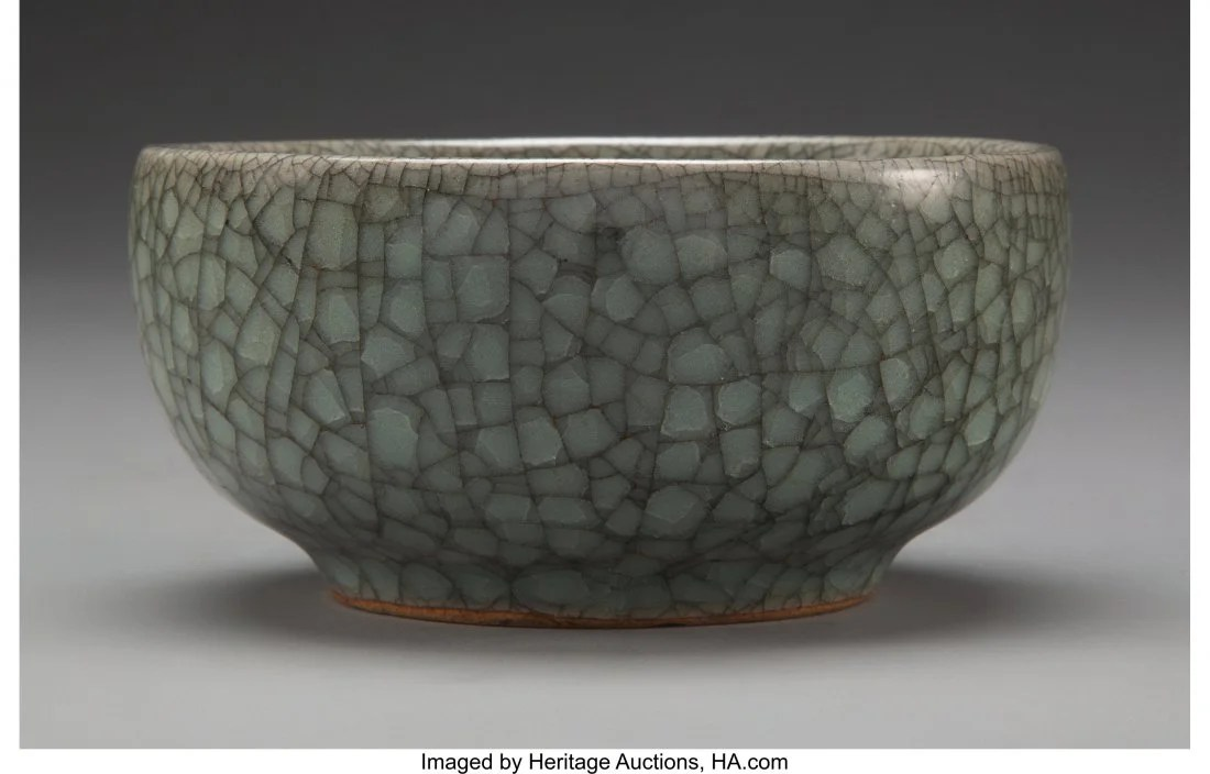 78167: A Chinese Guan-Type Bowl, late Ming Dynasty-earl