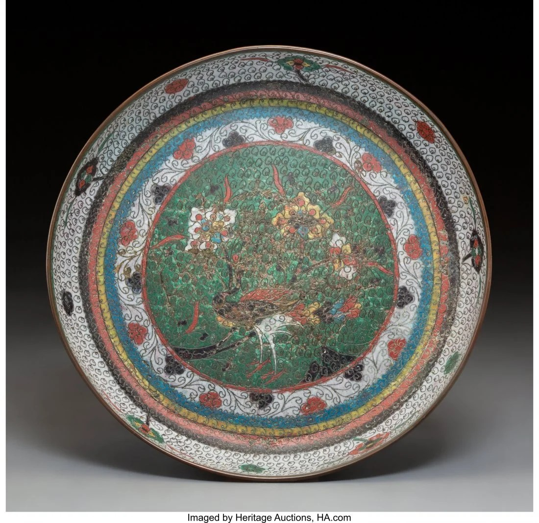 78144: A Chinese Cloisonné Basin, Ming Dynasty 2