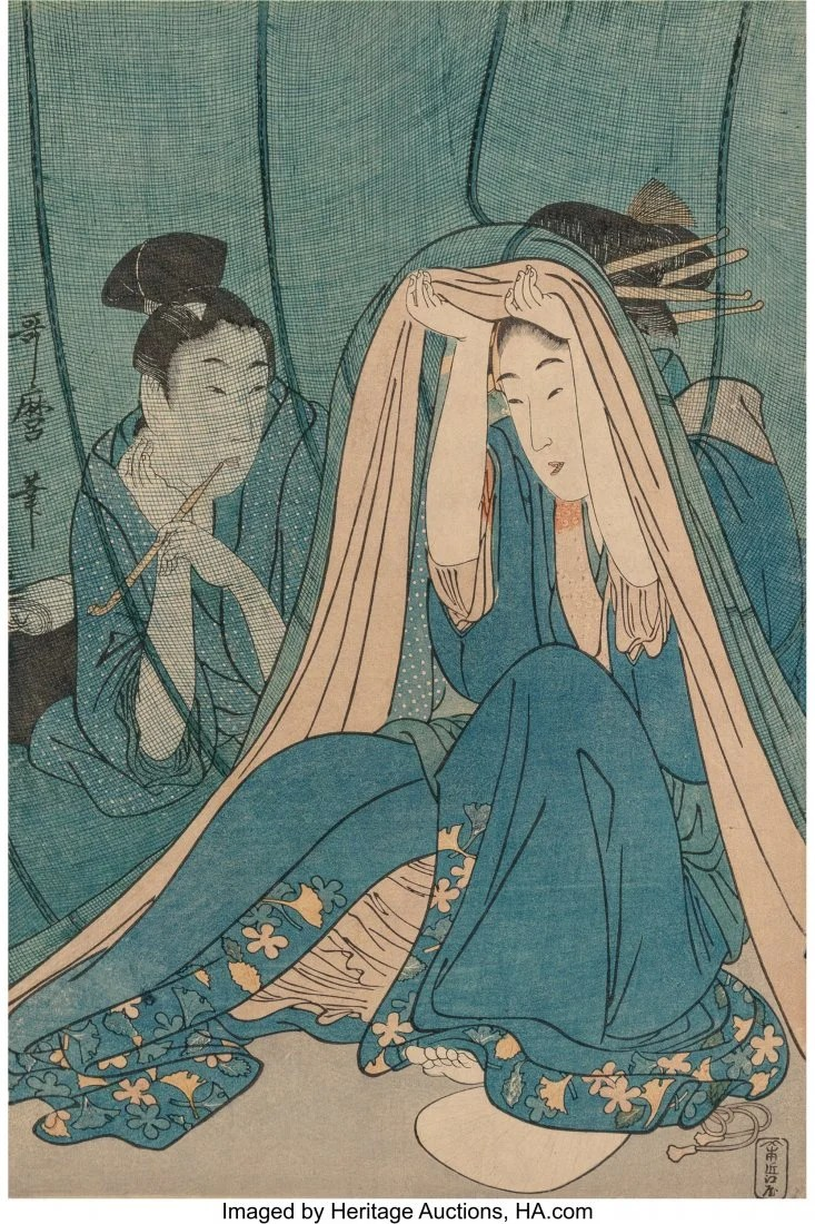 78416: Kitagawa Utamaro (Japanese, 1753-1806) Two Women