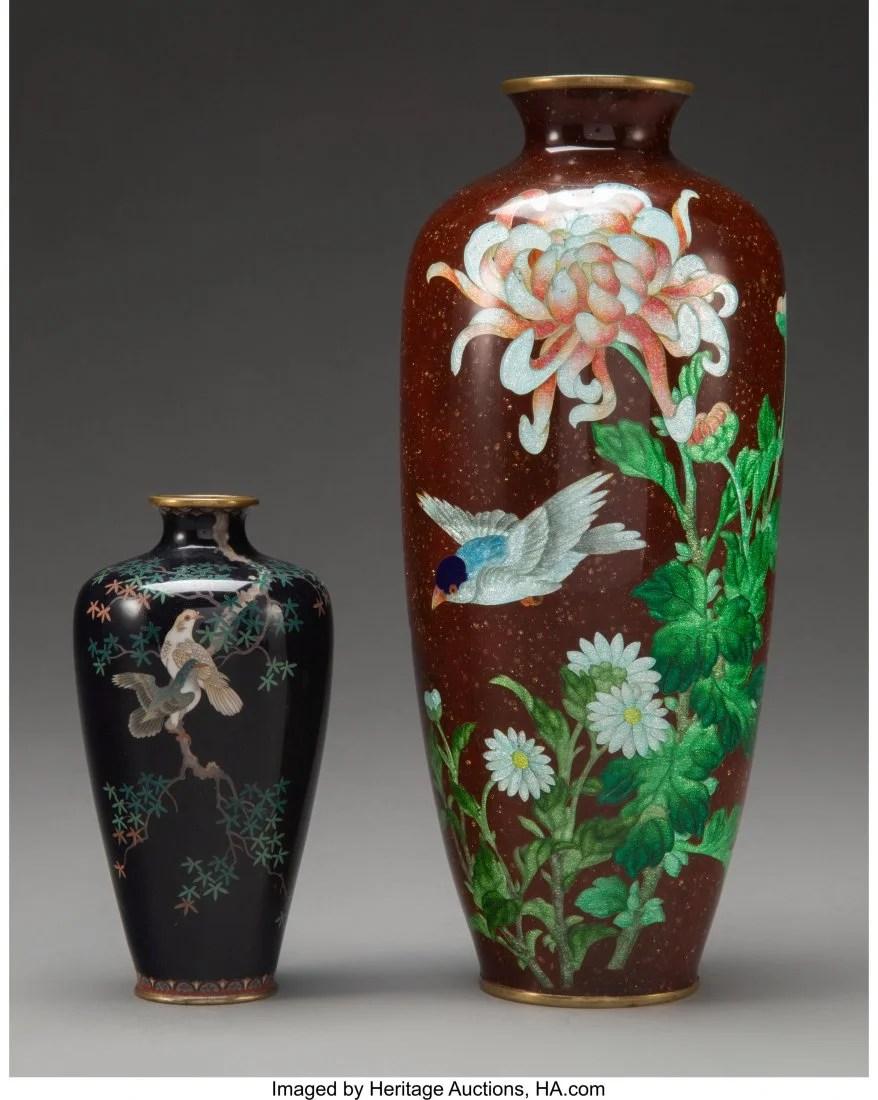 78408: An Adachi Kinjiro Ginbari Cloisonné Vase