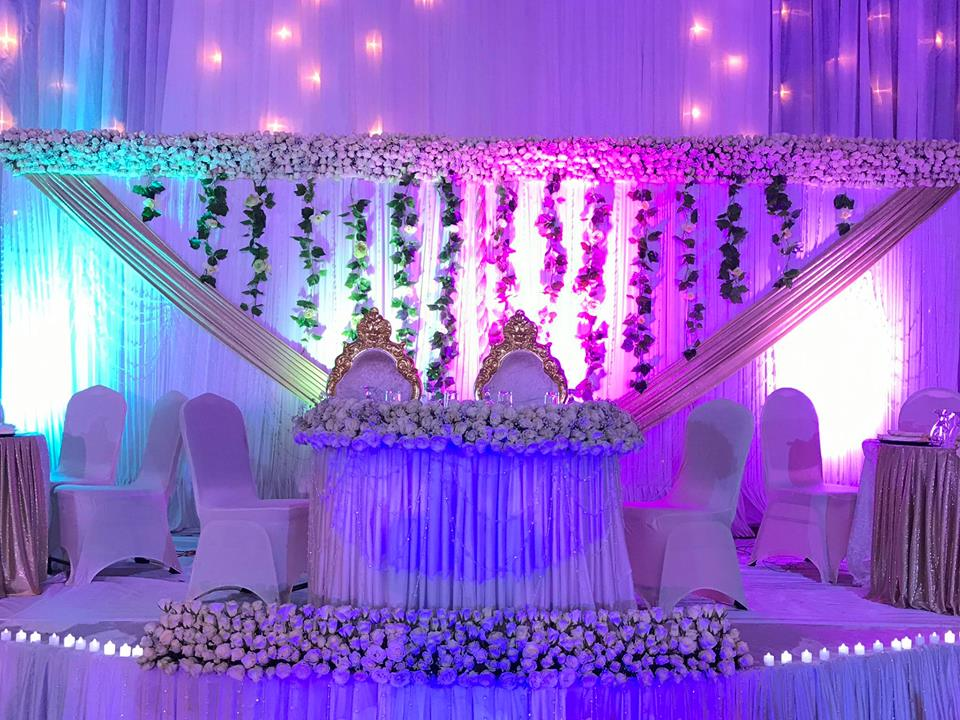 Wonderful Wedding High Table Decorations Done By SPICE