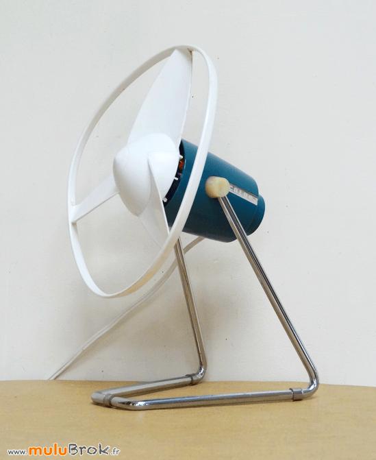 vintage ventilateur calor bleu