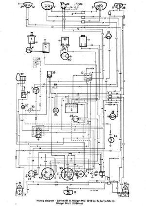 Austin Healey Wiring Diagram  Best Free Wiring Diagram