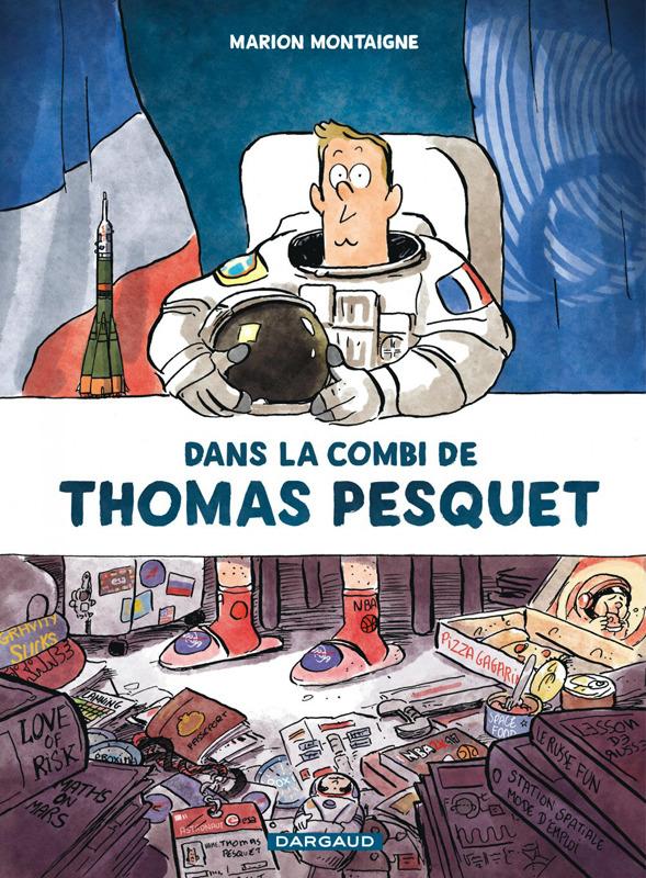 Dans la combi de Thomas Pesquet, Marion Montaigne