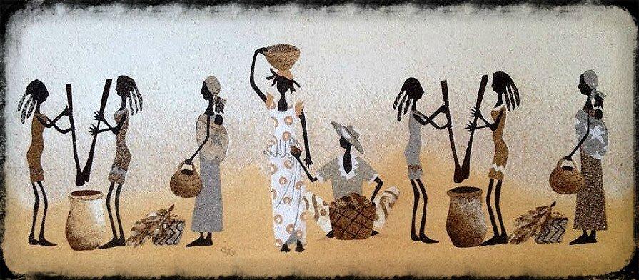abat jour africain sichame sable