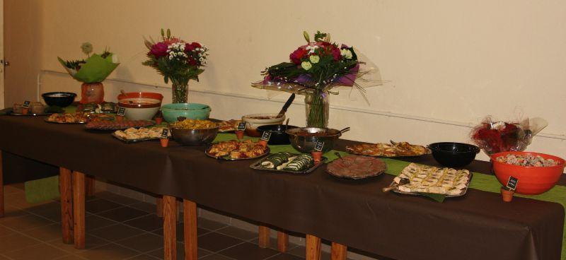 organiser un buffet pour 50 personnes