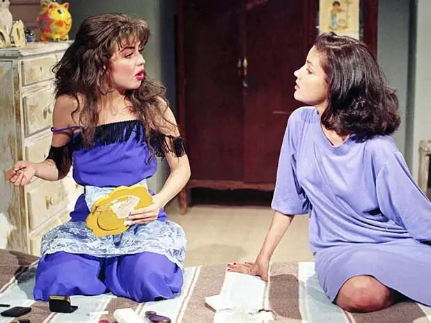 Thalía y Karla Álvarez en 'María Mercedes' Foto: Esmas,com