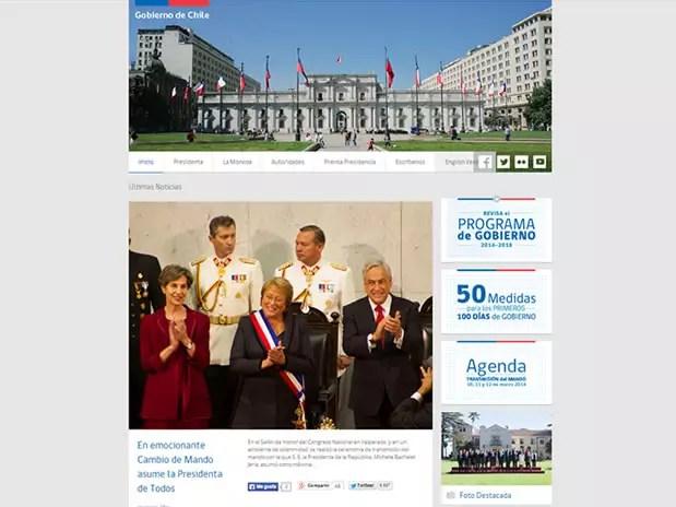 El nuevo sitio del Gobierno. Foto: Reproducción
