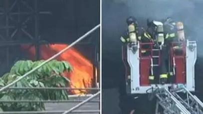 Imagens mostram incêndio que atinge Memorial da América Latina