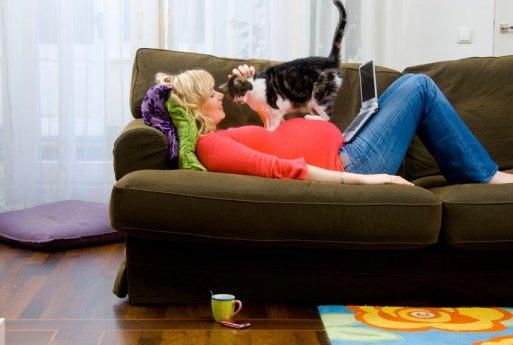 Etre enceinte avec un chat