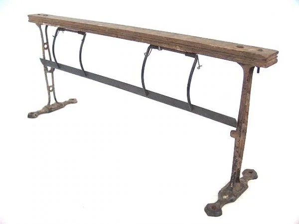 1018: COUNTRY STORE WOOD FRAME PAPER CUTTER : Lot 1018