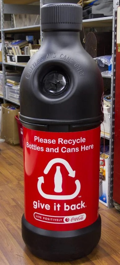 Coca-Cola Bottle and Cans Recycling Container : Lot 618