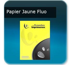 Affiche Papier jaune fluo