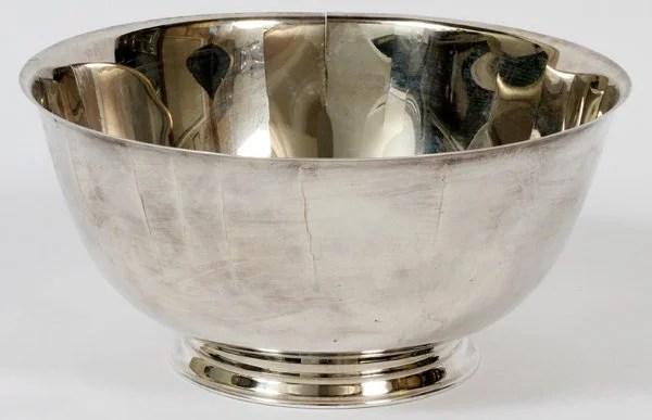 Reproduction Bowl Revere 6 Paul Oneida Silver