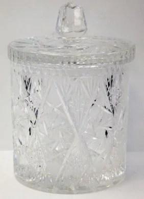 Hand Cut Lead Crystal Ice Bucket With Lid Lot 2110