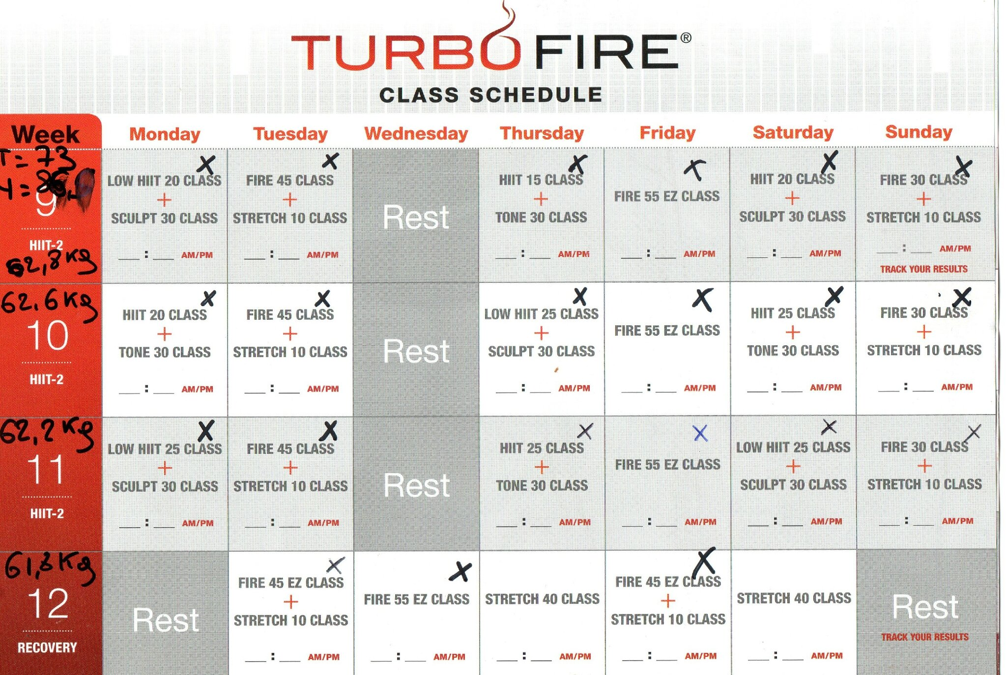 Search Results For Turbo Fire Workout Schedule Printable