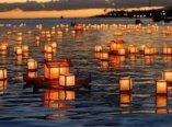 obon-lanternes sur eau