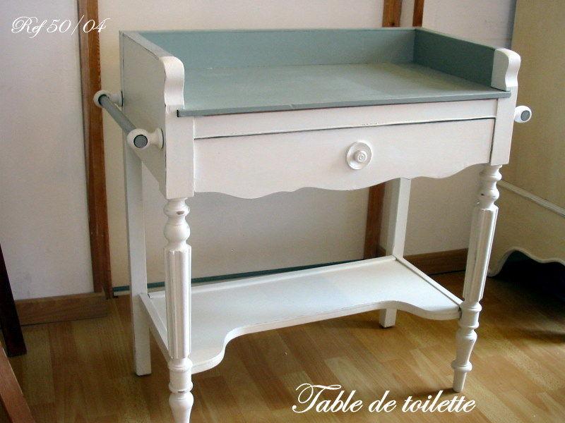 TABLE DE TOILETTE Tendance Peinture Et Patine