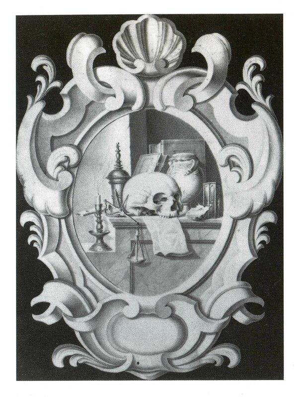 Trompe l'eil à la vanité dans un cartouche - collection particulière