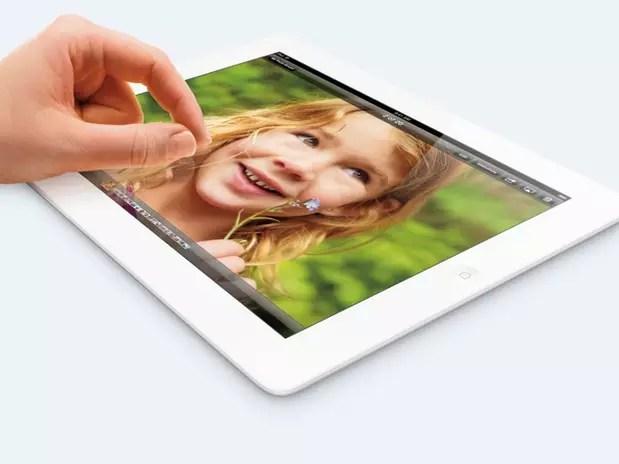 Novo iPad também é um modelo com a tecnologia retina, mas com o dobro do armazenamento Foto: Apple / Divulgação