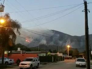 El incendio afectó hasta 70 hectáreas en la Sierra de Santiago Foto: Especial / Terra