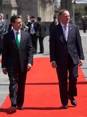 El Presidente Enrique Peña Nieto dijo que se buscará con Nueva Zelandia promover un tratado internacional sobre el comercio de armas. Foto: Presidencia