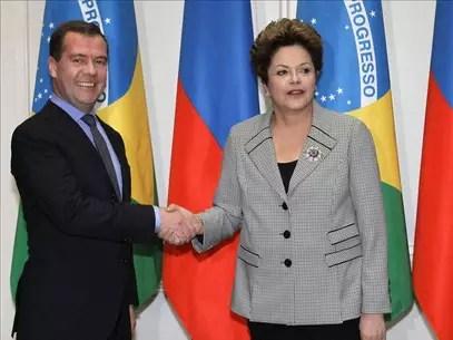 Medvédev visita mañana a Rousseff con especial interés en el área de defensa Foto: Agencia EFE / © EFE 2013. Está expresamente prohibida la redistribución y la redifusión de todo o parte de los contenidos de los servicios de Efe, sin previo y expreso consentimiento de la Agencia EFE S.A.