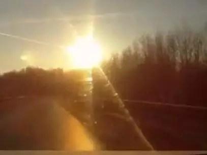 Il 15 febbraio, un meteorite ha sorpreso la gente della Russia nella regione conosciuta come il Urali Foto: Preso da Twitter