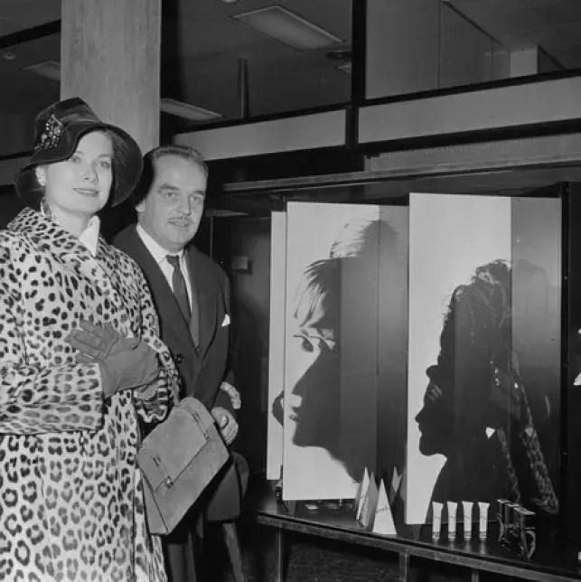 Grace Kelly y su esposo, Rainier III de Mónaco, en noviembre de 1959.
