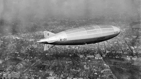 Acidente com dirigível R101 (na foto em voo teste sobre Londres, em 1929) é tema de nova música