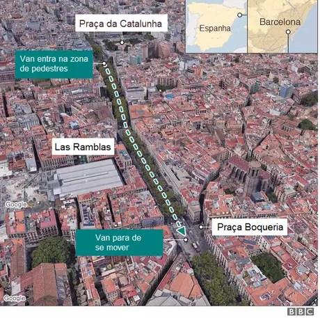 Mapa onde aconteceu o incidente