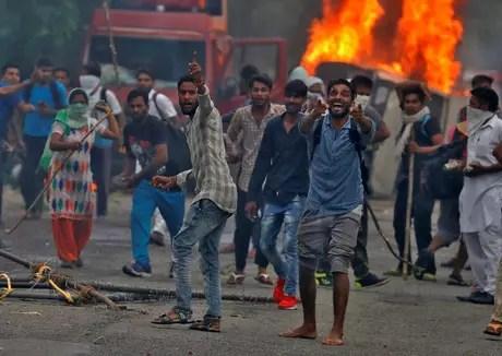 Protesto em Panchkula, na Índia 25/08/2017 REUTERS/Cathal McNaughton