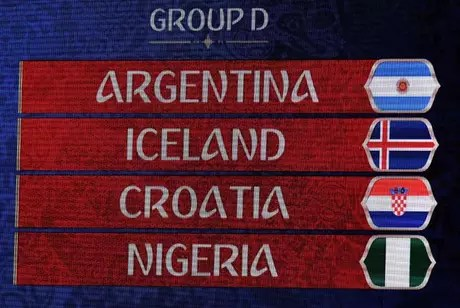 A Argentina pega a Islândia no primeiro jogo