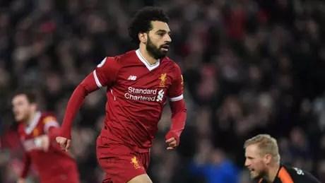 Salah tem 17 gols no Campeonato Inglês, sendo o vice-artilheiro da competição (Foto: PAUL ELLIS / AFP)
