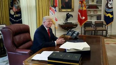 Donald Trump na Casa Branca; livro diz que presidente teria ficado atordoado com a própria vitória