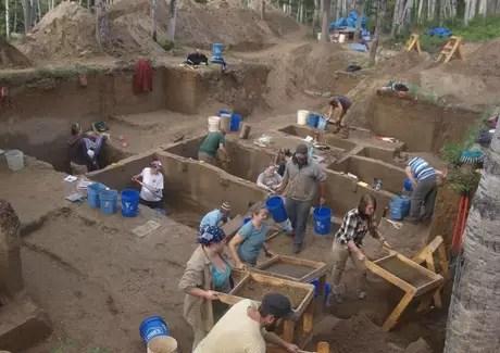 Escavações foram realizadas no sítio arqueológico Upward Sun River, no Alasca