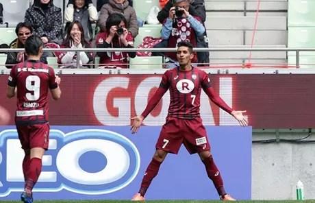 O atacante Pedro Júnior atualmente defende a camisa do Kashima Antlers, do Japão (Foto: Divulgação/JLeague)