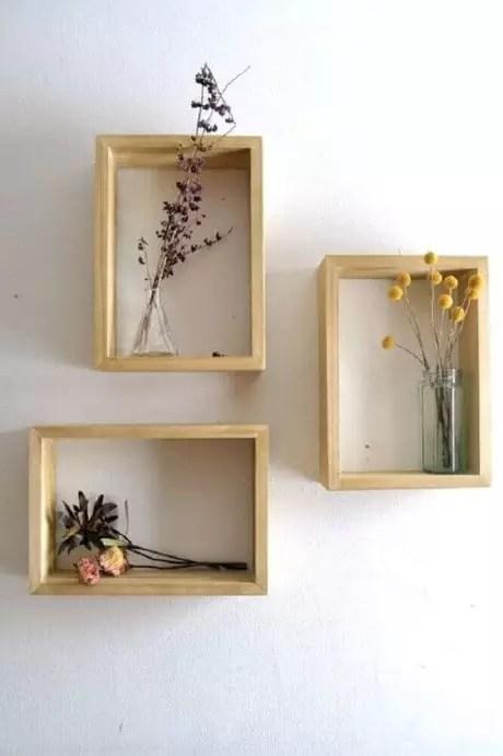 28. Faça combinações com os nichos, deixando sua decoração mais divertida