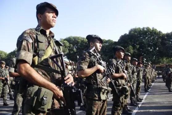 Militares do Exército em Belém (PA)
