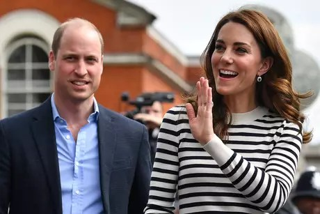 Kate Middleton and William at sporting event