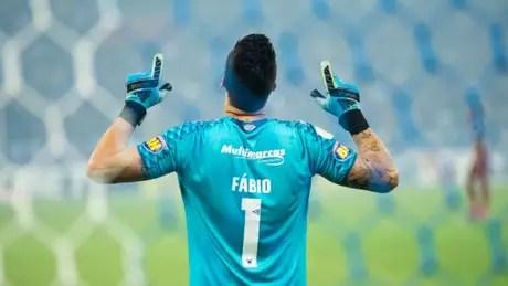 Fábio demonstra que quer ficar no Cruzeiro para a disputa da Série B- (Bruno Haddad/Cruzeiro)