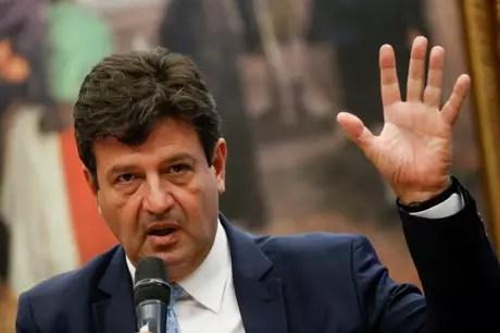 Ministro da Saúde, Luiz Henrique Mandetta11/03/2020 REUTERS/Adriano Machado