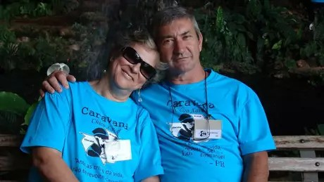 Wanderley e a esposa Fátima eram casados desde 1976