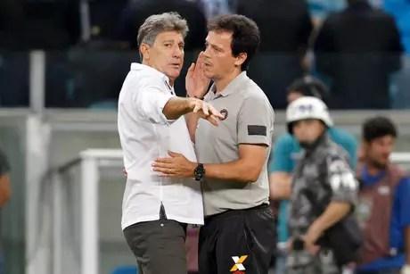 Renato Gaúcho e Fernando Diniz, técnicos de Grêmio e São Paulo
