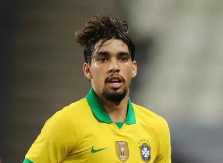 Meio-campista Lucas Paquetá em partida entre Brasil e Coreia do Sul 19/11/2019 REUTERS/Mahmoud Khaled