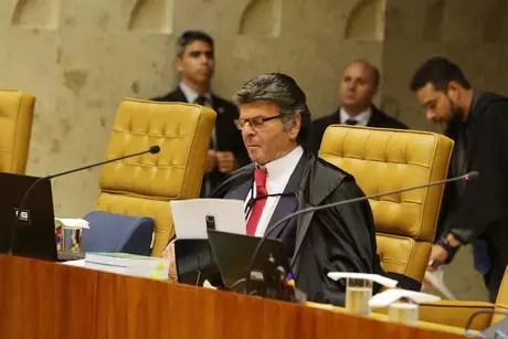 O Ministro Luiz Fux durante Sessão do Superior Tribunal Federal (STF), em Brasília (DF)