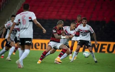 São Paulo e Flamengo duelam em jogo decisivo do Brasileirão (Foto: Alexandre Vidal / Flamengo)